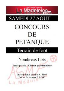 Concours de Pétanque(affiche)