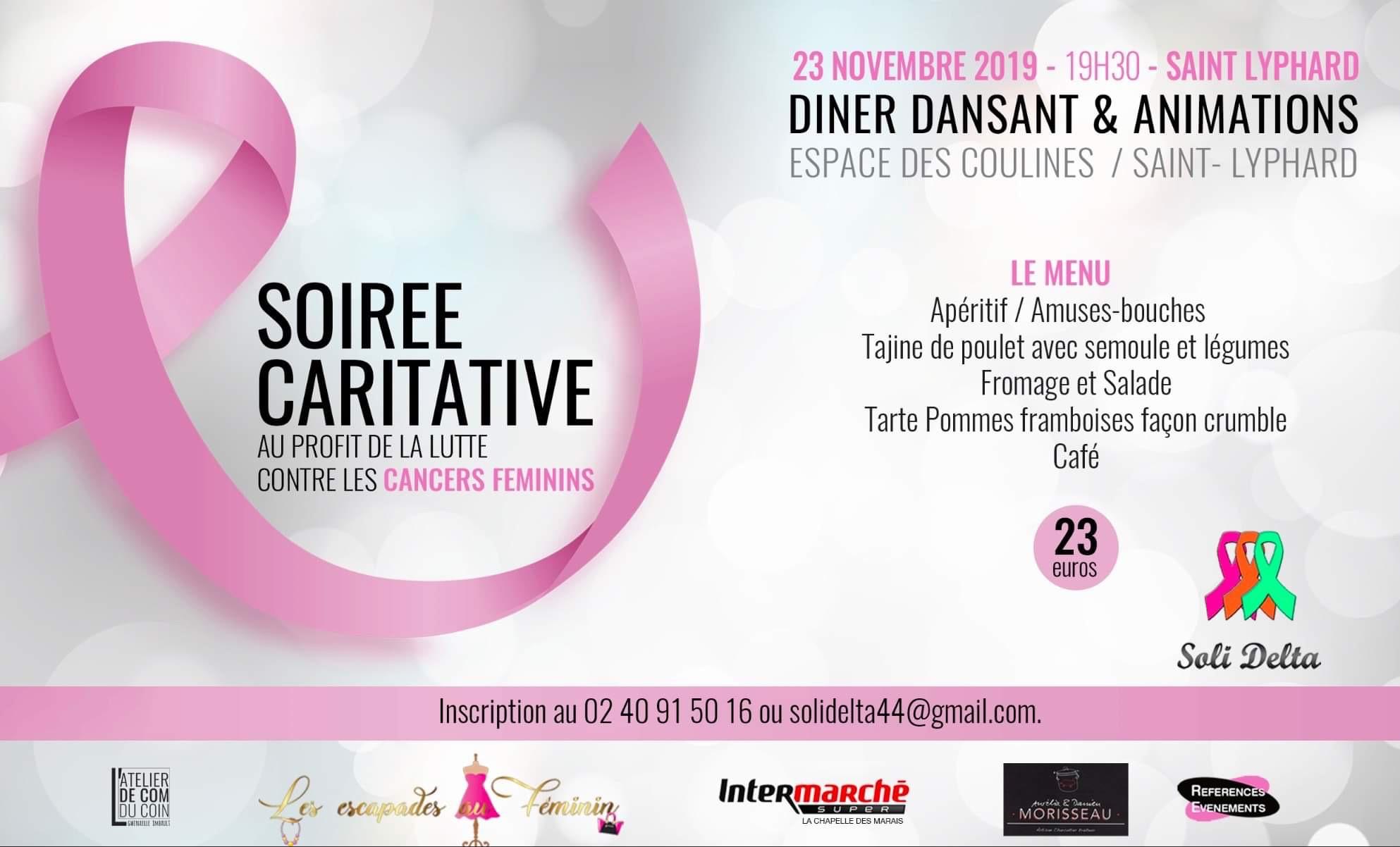 Soirée caritative contre les cancers feminins